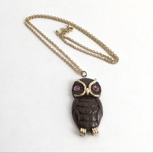 Owl Necklace Large Statement Pendant